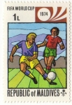 Stamps Asia - Maldives -  FIFA WORLD CUP 1974