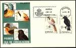 Stamps Spain -  Pájaros -Bigotudo - Estornino - SPD