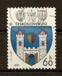 Sellos de Europa - Checoslovaquia -  Escudos ./ Jicin.
