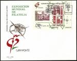 Stamps Spain -  Exposición mundial de filatélia Granada 92 - Santa Fe HB - SPD