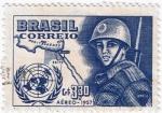 Sellos del Mundo : America : Brasil : SOLDADO ONU