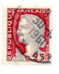 Stamps : Europe : France :  1960-MARIANNE(de DECARIS).Tipografiado