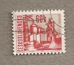 Sellos de Europa - Checoslovaquia -  Fábrica