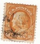Stamps United States -  Presidente Franklin Ed 1912