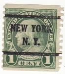 Sellos de America - Estados Unidos -  Presidente Franklin Ed 1923