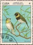 Stamps Cuba -  Aves Endémicas. Tomeguín del Pinar, Tiaris canora