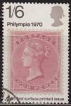 Sellos del Mundo : Europa : Reino_Unido : Gran Bretaña 1970 Scott 640 Sello º Philympia Stamp 4 pence de 1885 Grande Bretagne Great Britain