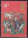 Sellos del Mundo : Europa : Reino_Unido : Gran Bretaña 1970 Scott 645 Sello º Navidad Christmas Angel y Pastores Grande Bretagne Great Britain