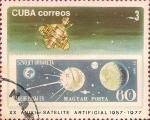 Stamps Cuba -  XX Aniv. del 1er Satélite Artificial. Hungría, Luna XVI.