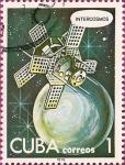 Stamps Cuba -  Dia del Cosmonauta, Intercosmos.