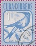 Stamps Cuba -  Zun-zun (Colibrí).