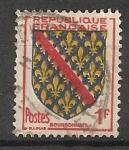 Sellos de Europa - Francia -  Escudo (Bourbonnais)