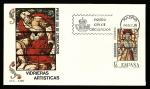 Stamps Spain -  Vidrieras artísticas - Enrique II Alcázar de Segovia - SPD