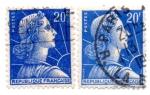 Stamps : Europe : France :  1955-59..MARIANNE(de MULLER)Tipografiado(C-TIPO II)