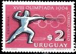 Sellos del Mundo : America : Uruguay : XVIII Olimpiada 1964
