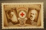 Sellos del Mundo : America : Colombia : JEAN HENRY DUNANT, SANTIAGO SAMPER BRUSH