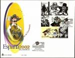 Sellos de Europa - España -  Exposición Mundial de Filatelia Juvenil  España 2002 - Salamanca - Comic Alatriste - SPD