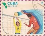 Stamps Cuba -  IX Juegos Deportivos Panamericanos. Voley.