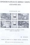 Sellos de Europa - España -   1980 3-Octubre Exposicion Filatelica de América y Europa