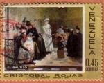 Stamps : America : Venezuela :  El Bautizo por Cristobal Rojas