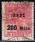 Sellos de America - Brasil -  Mercurio Habilitado (3)