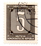 Stamps : Europe : Germany :  1954-TIMBRES de SERVICIOS-1956(FILI:P)