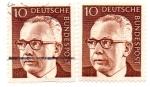 Stamps : Europe : Germany :  1970-1973-PRESIDENTE G.HEINEMANN