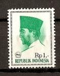 Sellos de Asia - Indonesia -  Presidente Sukarno.