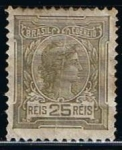 Stamps Brazil -  Scott  202 Cabeza de Libertad (2)