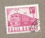 Sellos de Europa - Rumania -  Tren Eléctrico