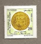 Stamps Africa - Tunisia -  Moneda del 706 dJ