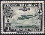 Stamps Europe - Spain -  347 Pro Cruz Roja Española. Avión Plus-Ultra, y travesía Palos-Buenos Aires.