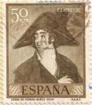 "Stamps : Europe : Spain :  ""Conde de Fernán-Núñez"" - Goya"