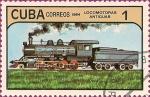 Stamps America - Cuba -  Locomotoras Antiguas. I