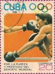 Sellos de America - Cuba -  Olimpiadas de Los Angeles '84. Boxeo.