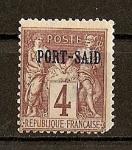 Sellos del Mundo : Europa : Francia : Oficina Francesa en Port-Said.