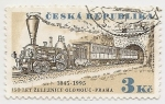 Stamps : Europe : Czech_Republic :  150° Aniversario Ferrocarril
