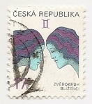 Stamps : Europe : Czech_Republic :  Géminis