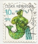 Stamps : Europe : Czech_Republic :  Sodíaco (Aquarius)
