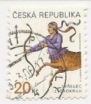 Stamps : Europe : Czech_Republic :  Sodíaco (Saguittarius)