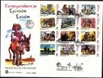Stamps Spain -  Correspondencia epistolar escolar - Don Quijote  HB - SPD