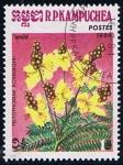 Stamps Cambodia -  Scott  514  Peltophorum roxburghil