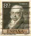 "Stamps : Europe : Spain :  "" Retrato de Goya"""
