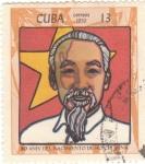 Stamps Cuba -  80 ANIVERSARIO DE HOCHI MINH