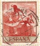 """Stamps : Europe : Spain :  """"El pelele"""" - Goya"""
