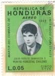 Stamps : America : Honduras :  MARTIR DE COMBATE DE HONDURAS