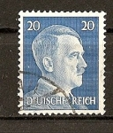 Sellos de Europa - Alemania -  Busto de Hitlar - Grabado.