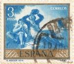 """Stamps : Europe : Spain :  """"El bebedor"""" - Goya"""