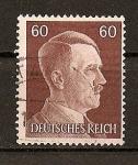 Sellos de Europa - Alemania -  Busto de Hitler - Grabado - Formato 21,5 x 26.