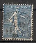 Sellos de Europa - Francia -  Sembradora (fondo de líneas)